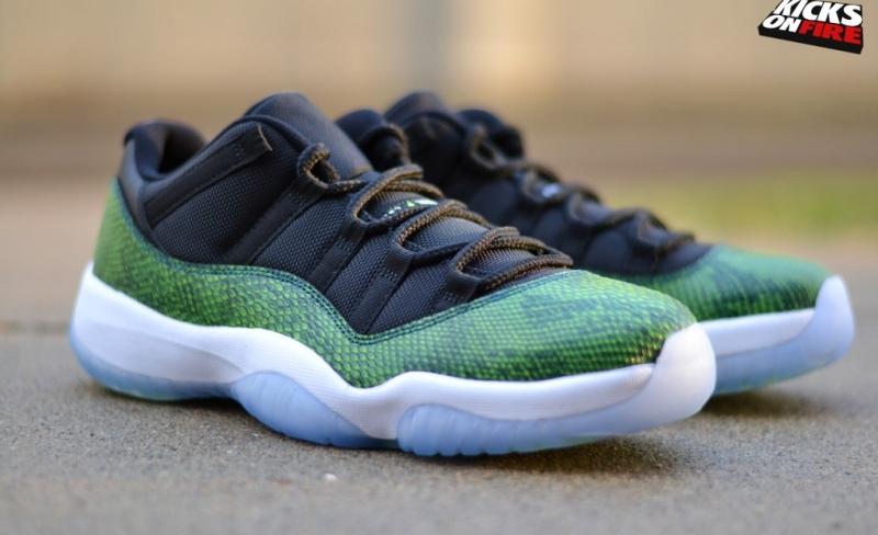 Air Jordan 11 Low Green Snakeskin