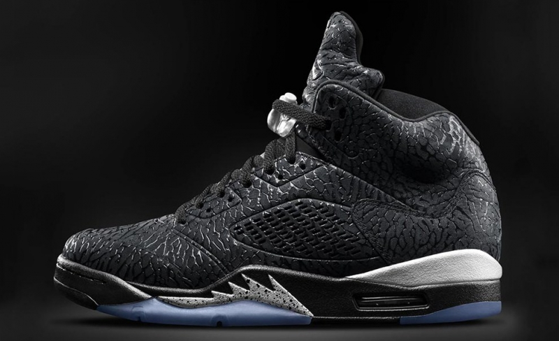 Air Jordan 3Lab5 - Black / Metallic Silver