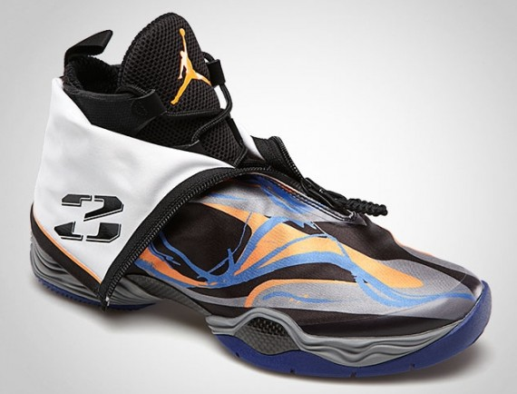 Air Jordan 28 Black / Bright Citrus - Cool Grey