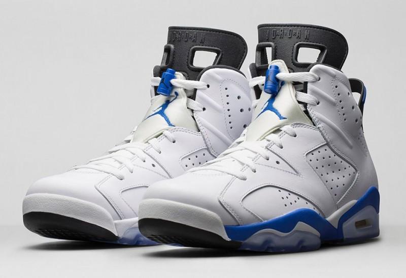 2375bb50644b48 Air Jordan 6 Sport Blue