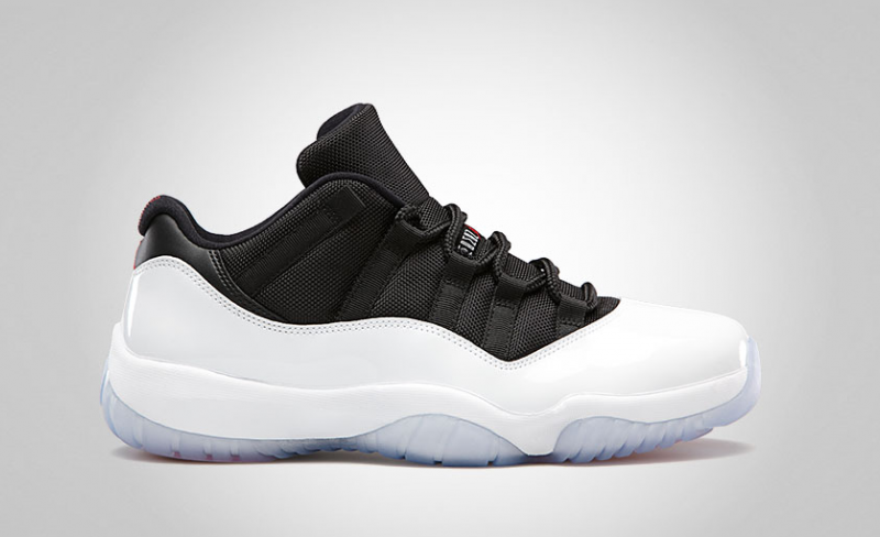 Air Jordan 11 Low White / Black - True Red