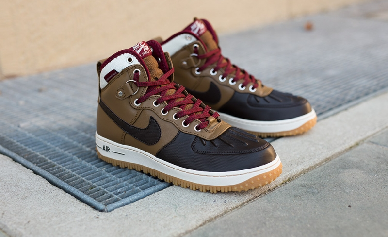 Nike Air Force 1 Duckboot Velvet Brown