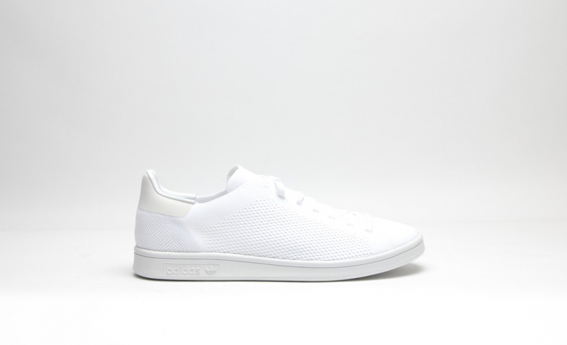 the latest 73d32 eddc8 ShoeFax - Adidas Stan Smith Primeknit Triple White